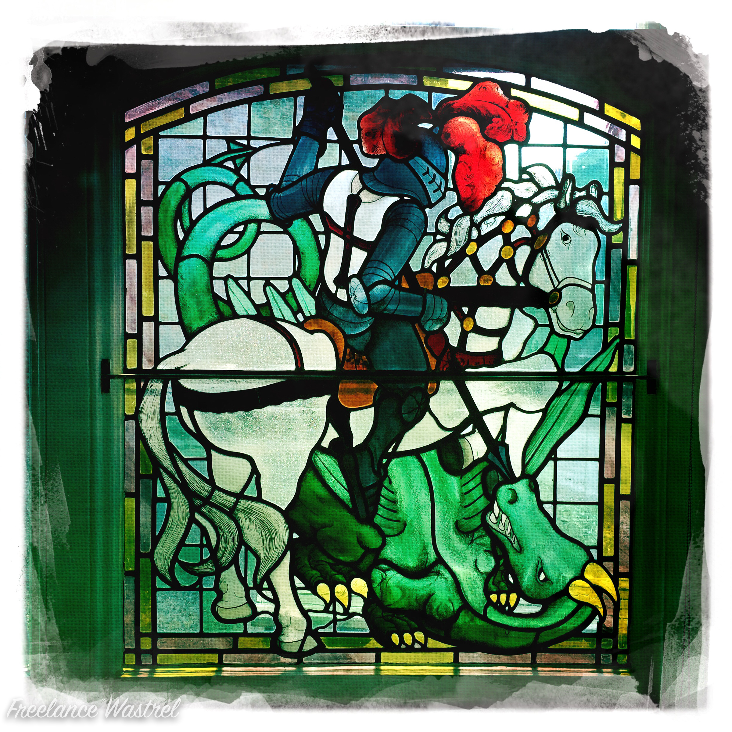 Saint George and the dragon (at The George, Cley next the Sea)