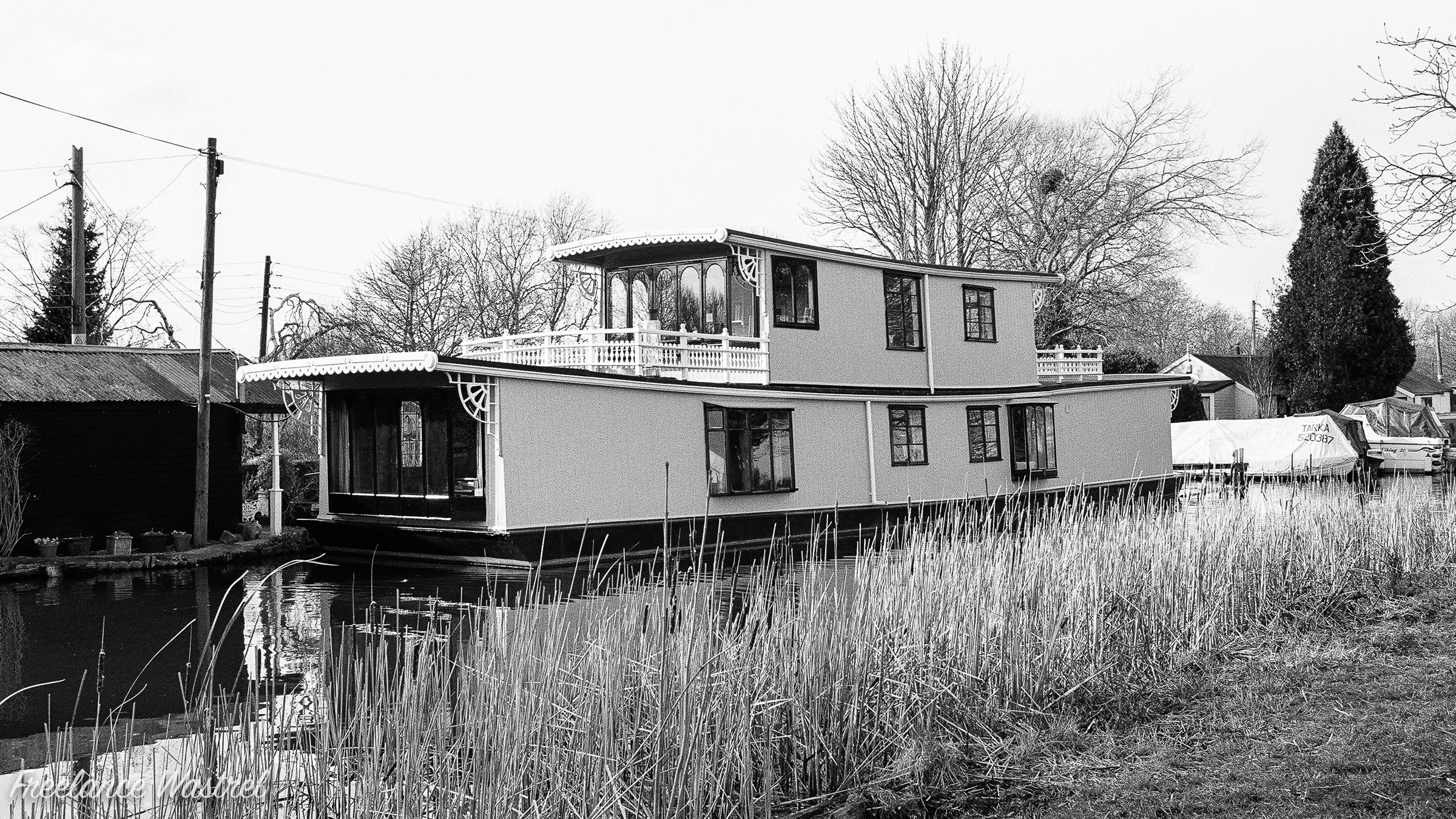 Houseboat on the Erewash Canal, February 2018