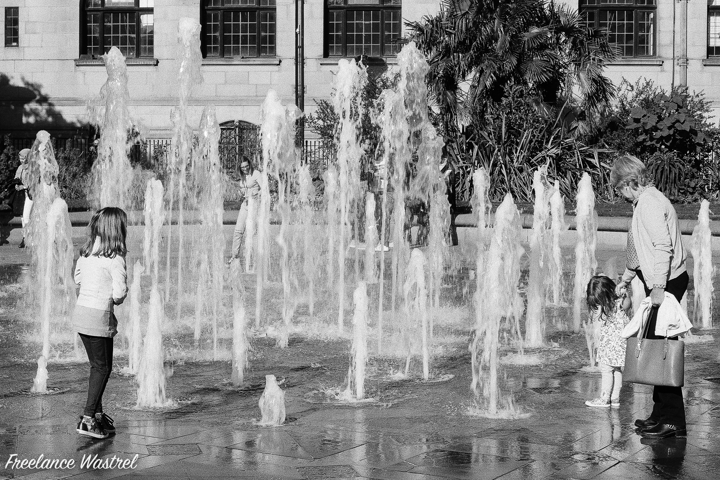 Peace Garden fountains, Sheffield