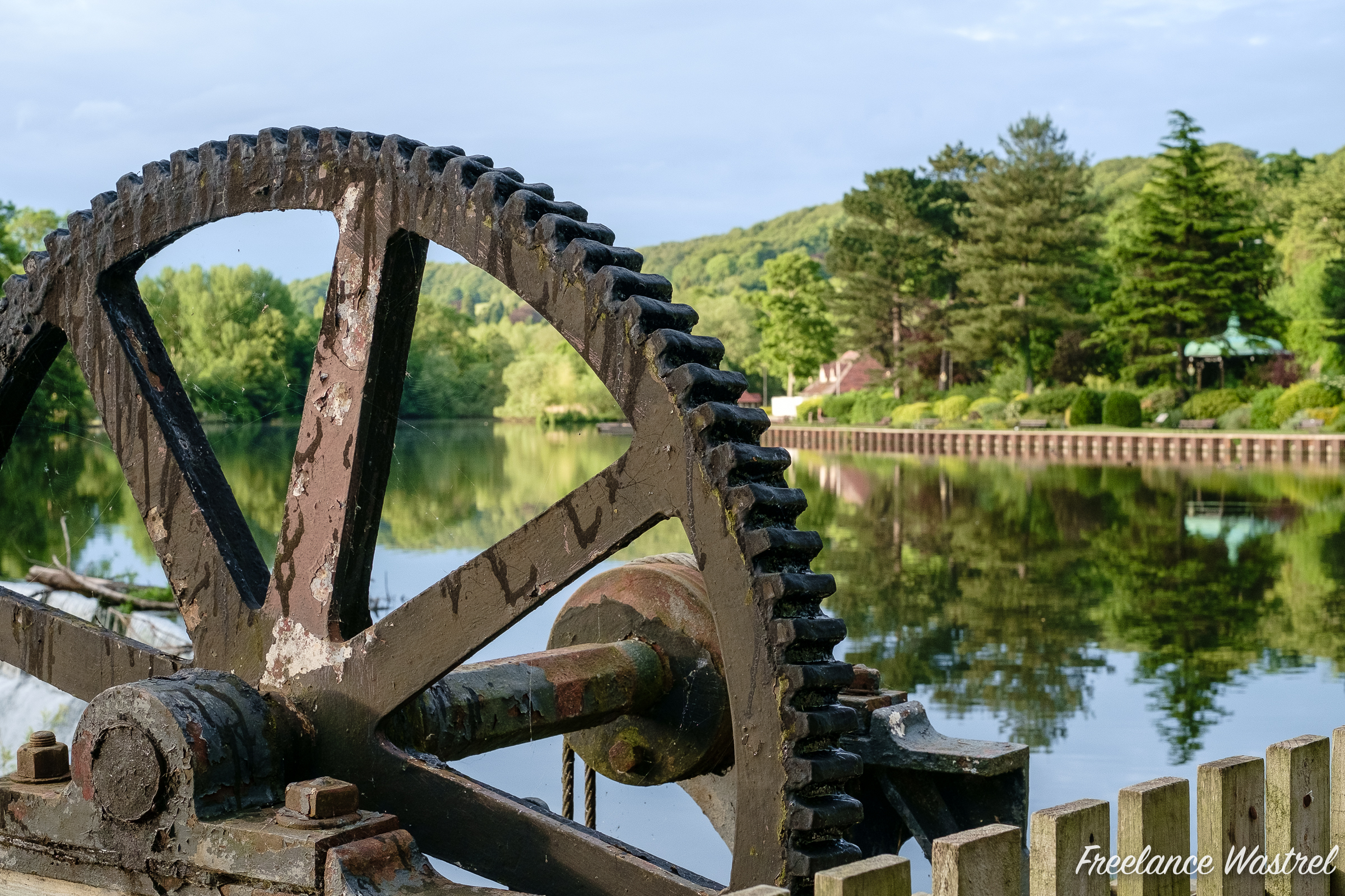 Sluice gate machinery, Belper North Mill