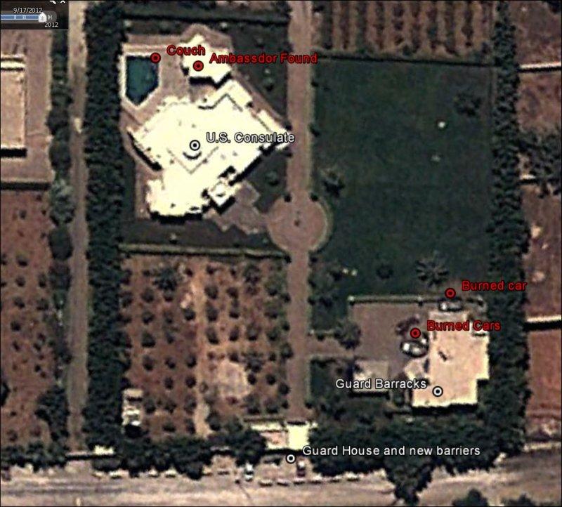 Benghazi PostAttack Satellite Revelations Inform The Pundits - Benghazi time zone vs us time zone map