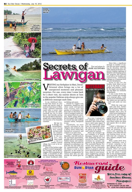 Secrets of Lawigan by Jojie Alcantara