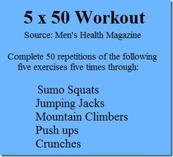 5x50 workout