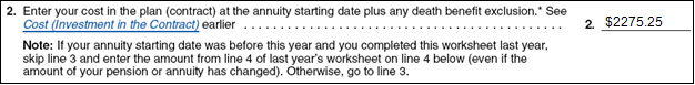 Irs Publication 575 Worksheet A Simplified Method Line 2