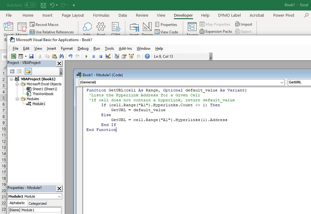 Hyperlink Formula In Excel