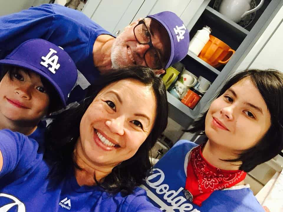 family, generation, dodger fan, sandwich generation, mom, bicultural family