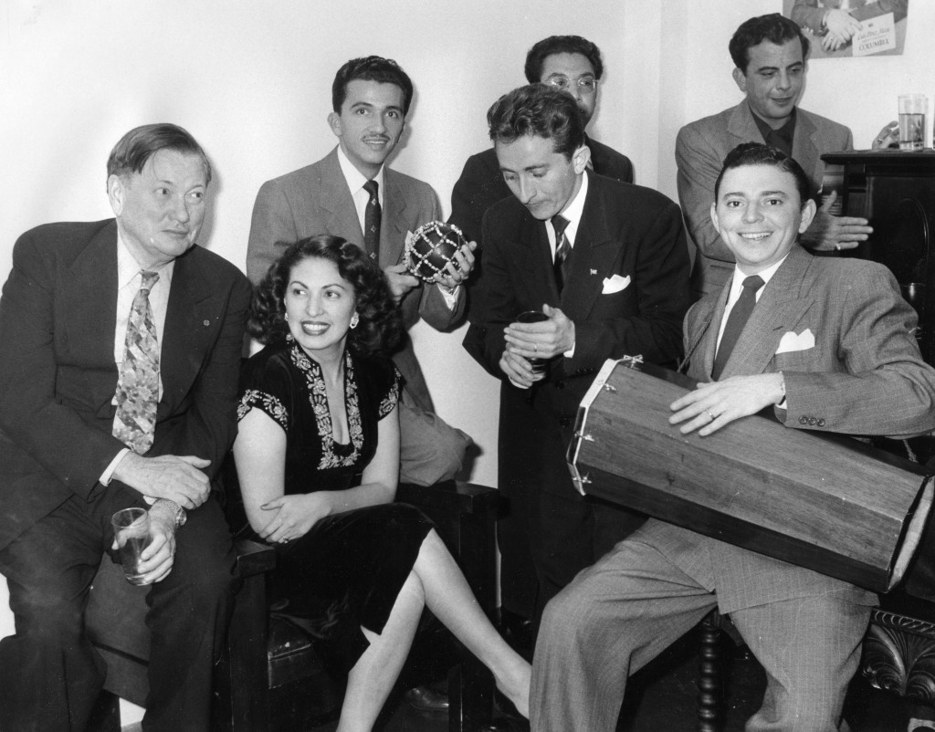 Ralph Peer with Mexican female composer Consuelo Velazquez. Photo courtesy of the Peer Family Archives