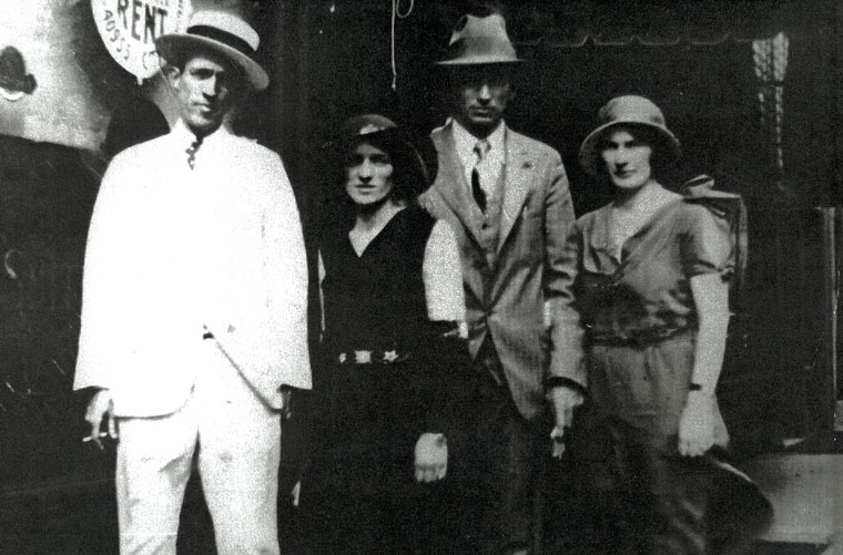 """The Carter Family """"forged a river in a borrowed car to get to"""" Peer's Bristol Sessions, which launched them to stardom. Photo courtesy of the Peer family archives"""