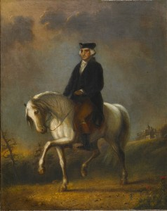 """""""George Washington at Mount Vernon"""" by Alfred Jacob Miller. From Walters Art Museum via Wikimedia Commons"""