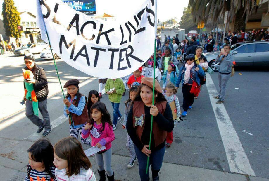 The Radical Brownies march with the Black Lives Matter movement. Photo courtesy of Radical Brownies.