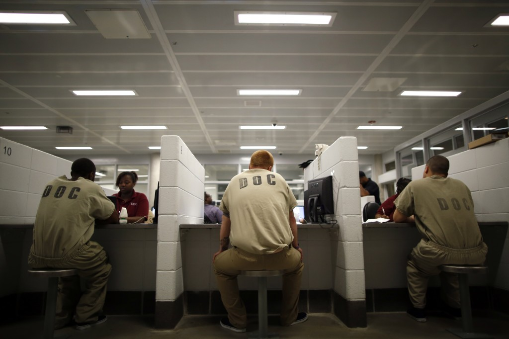File photo of inmates at the Cook County Jail in Chicago by Jim Young/Reuters