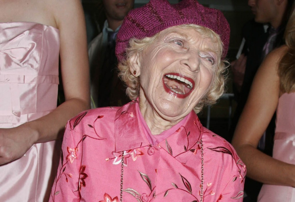 "Actress Ellen Albertini Dow, best known for her role in ""Wedding Crashers"" and ""The Wedding Singer,"" died Monday at age 101. Photo by Seth Wenig/Reuters."