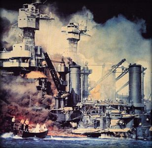The Perilous Fight  America s World War II in Color   PBS Image of Pearl Harbor Bombing