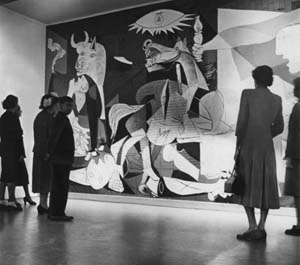 Guernica on display at MOMA
