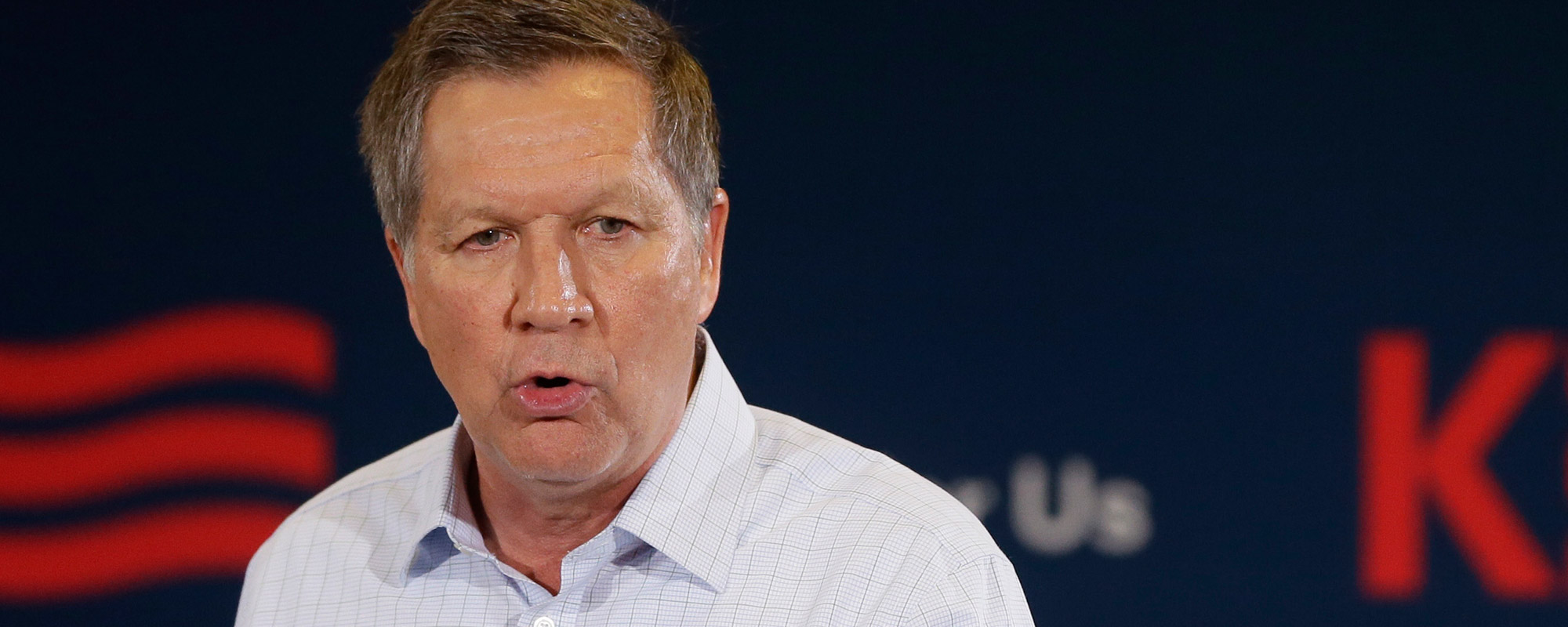Republican presidential candidate, Ohio Gov. John Kasich, addresses supporters during a town hall meeting, Tuesday, Feb. 16, 2016, in Livonia, Mich.