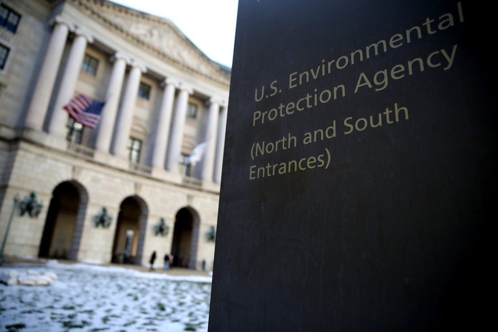 A view of EPA headquarters on March 16, 2017.