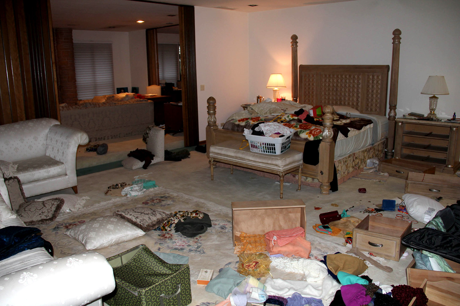 The perpetrators ransacked the Kumra mansion. They left with more than $100,000 in cash and jewelry. (Los Gatos-Monte Sereno Police Department)