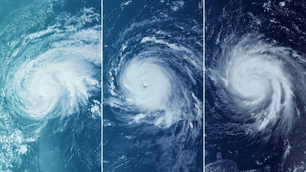 Hurricanes Harvey, Irma and Maria.
