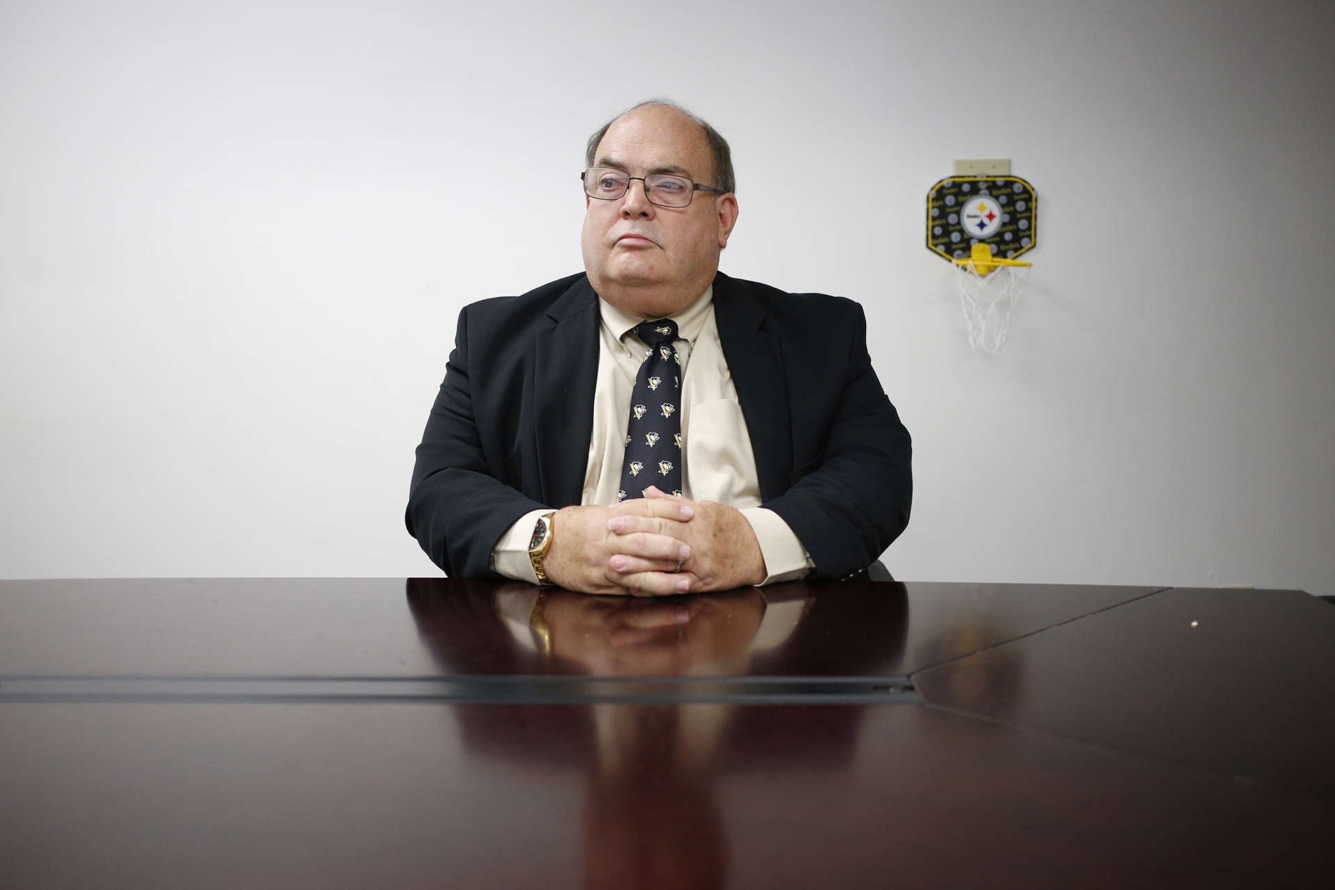 Hancock County Prosecutor Jim Davis sits for a portrait on June 22, 2018 in New Cumberland, W.Va.