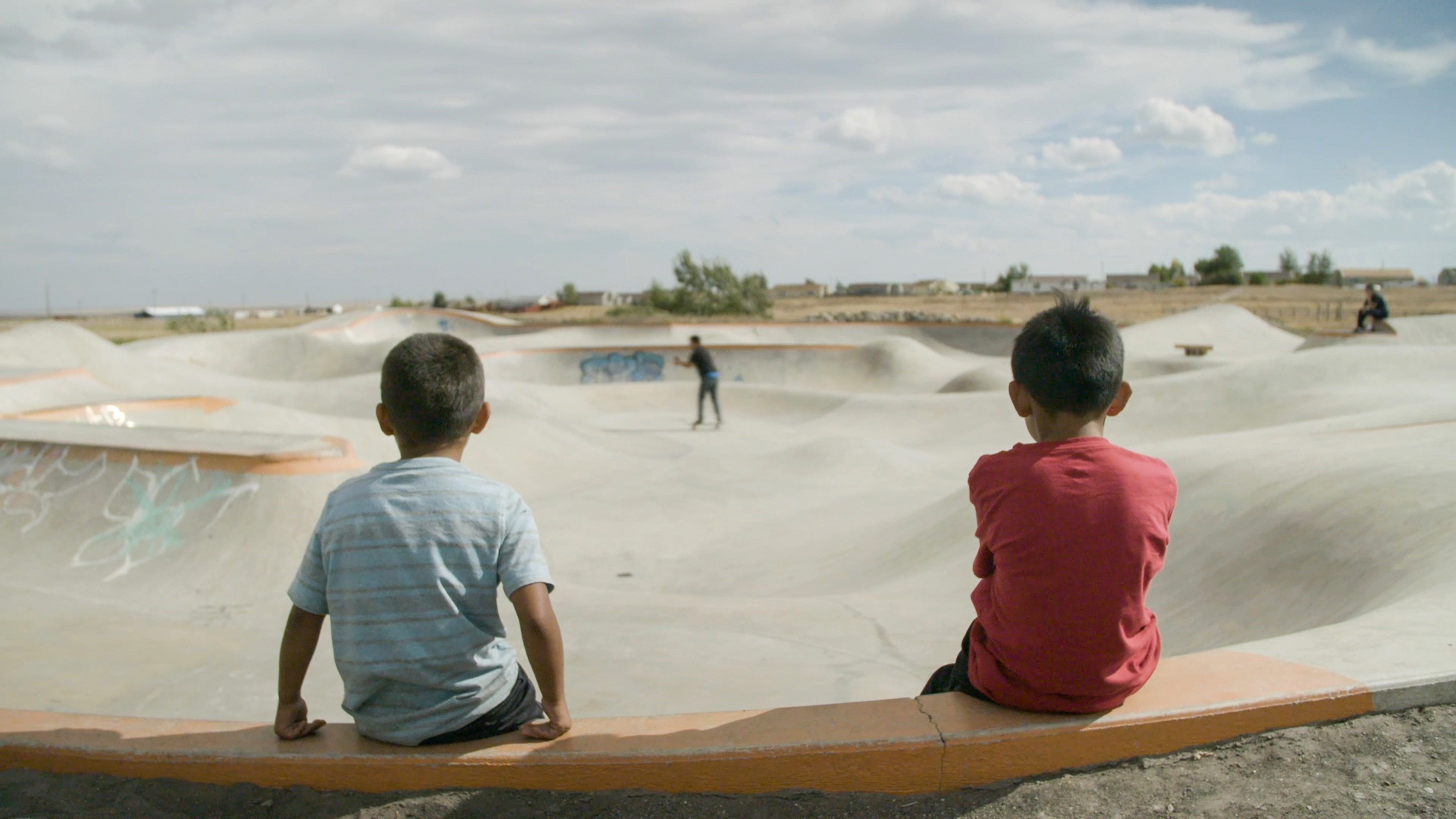 A skate park on the reservation in Browning, Montana.