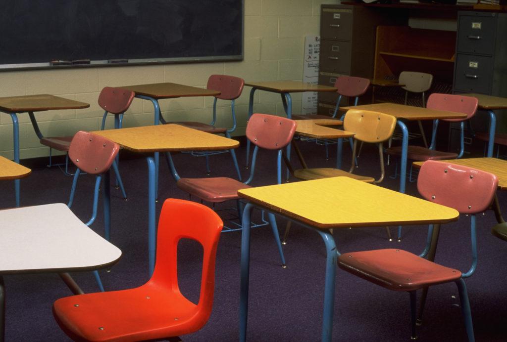 Empty Class Room (Photo by Jeffry W. Myers/CORBIS/Corbis via Getty Images)