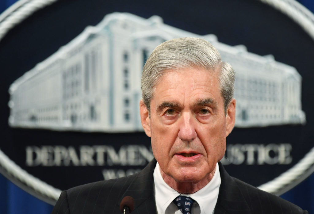 Special Counsel Robert Mueller speaks on the investigation into Russian interference in the 2016 presidential election.