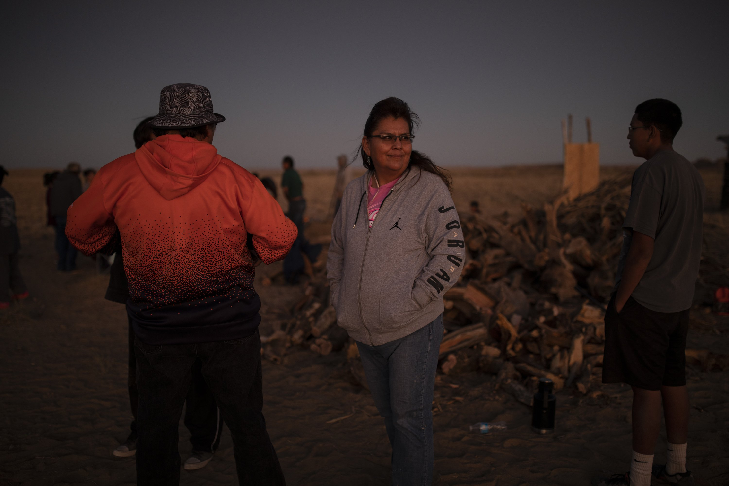 Jeanise Livingston attends a coming of age ceremony for a family member outside of Gallup, NM on October 26, 2019.
