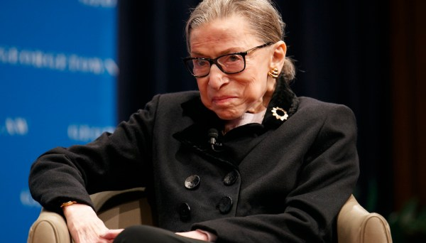 Supreme Court Justice Ruth Bader Ginsburg at Georgetown Law's second annual Ruth Bader Ginsburg Lecture, Oct. 30, 2019. (Photo: Jacquelyn Martin/AP)