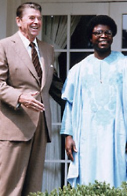 Image result for ronald reagan with african president samuel doe