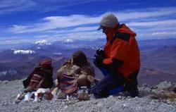 Johan Reinhard in Andes