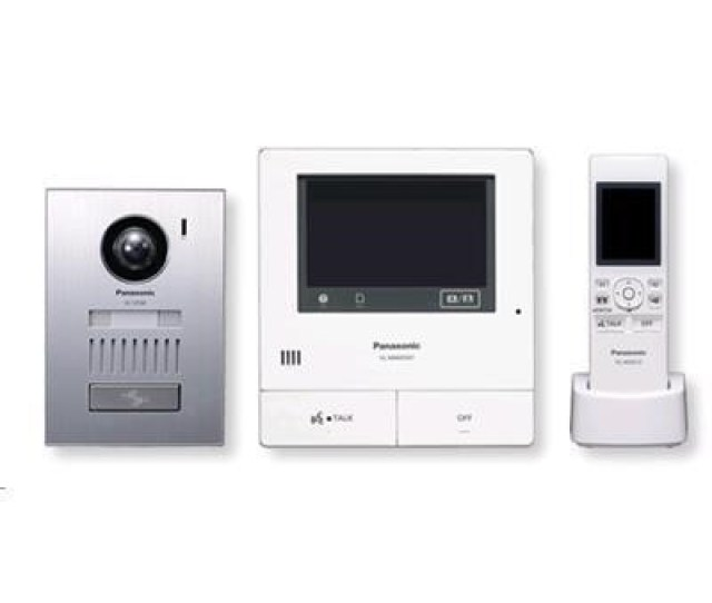 Panasonic Vl Swd501 Wireless Video Intercom System Large Touch Panel Sd Card Recording Wide Angle Camera Incl Surface Mount Door Station