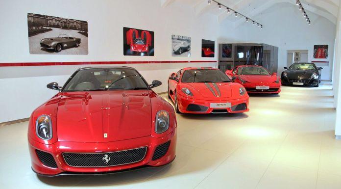 Ferrari showroom in India