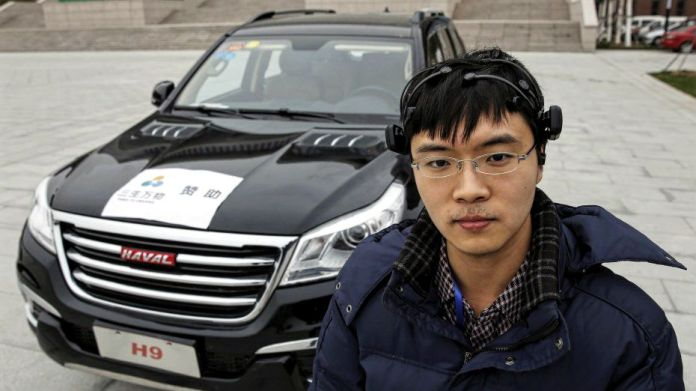 first brain-controlled car