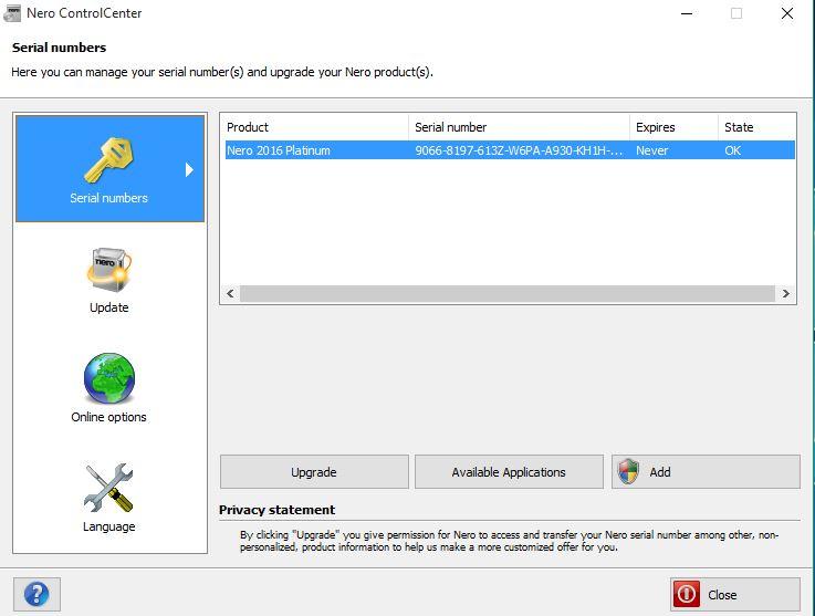 nero download 7 serial number