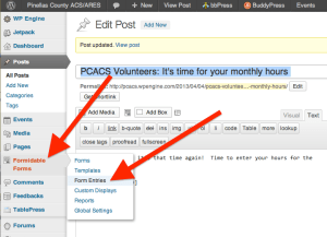 Creating the monthly hours collection form - Step 20