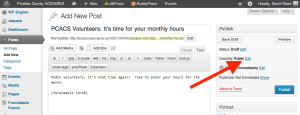 Creating the monthly hours collection form - Step 9b