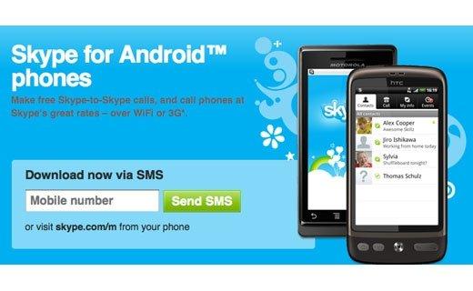 Skype estrena aplicación para los teléfonos Android