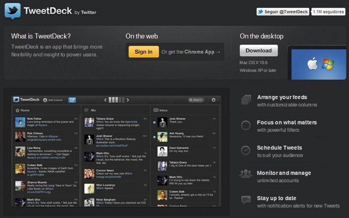 Twitter con TweetDeck y HootSuite 1