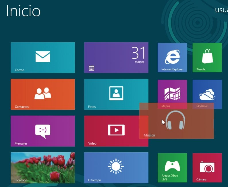 Windows 8. Reordenar aplicaciones