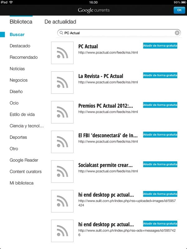 Google Currents RSS 4