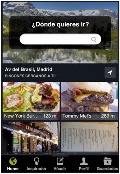 Aplicaciones móviles Minube