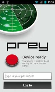Aplicaciones móviles Prey