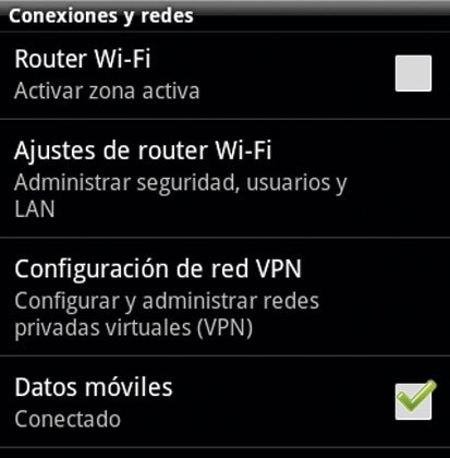 Compartir Internet en Android