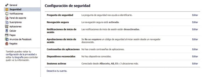 Facebook configurar perfil 10