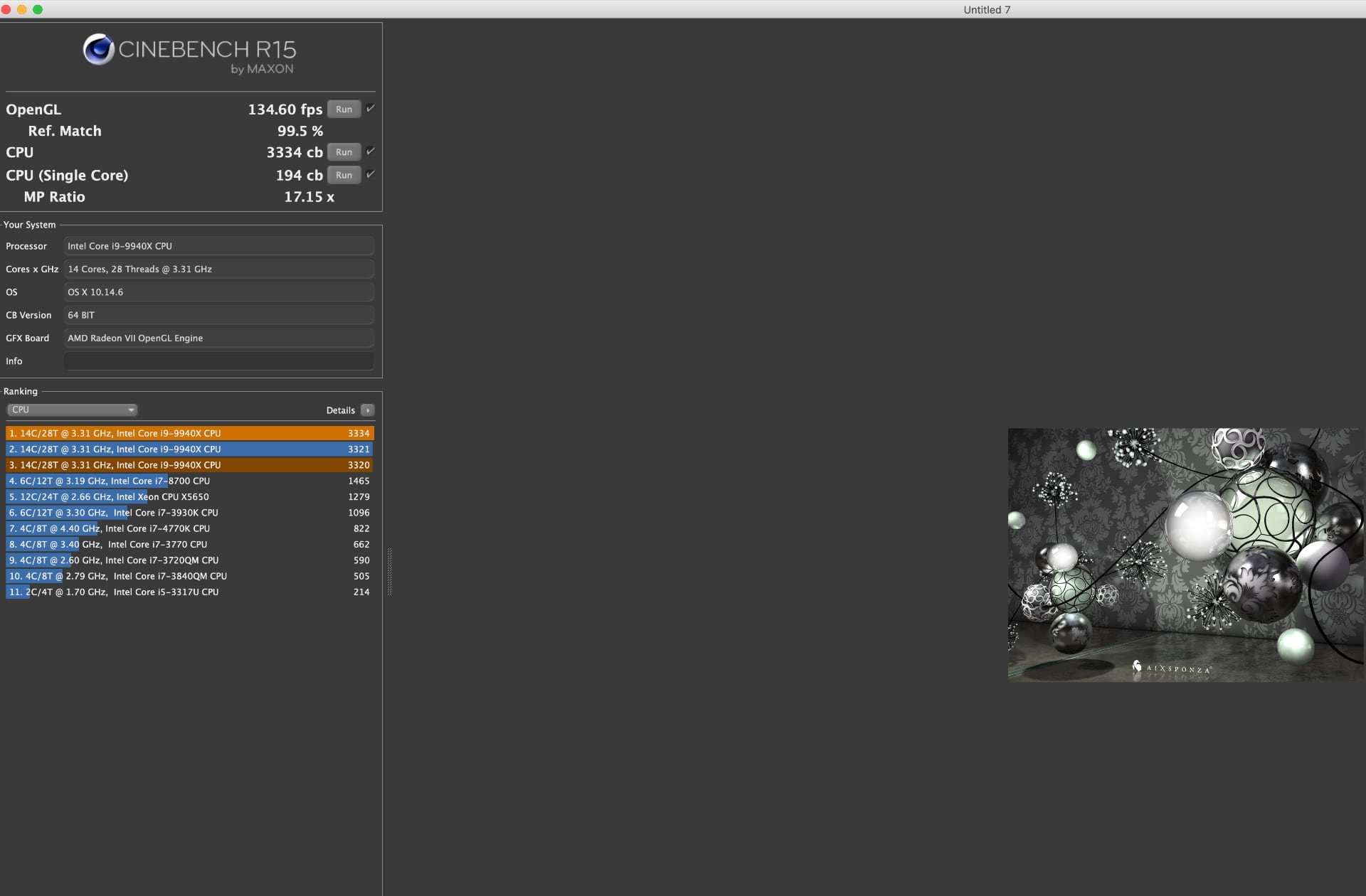 Workstation X299 i9-9840X 14core con Radeon VII 6