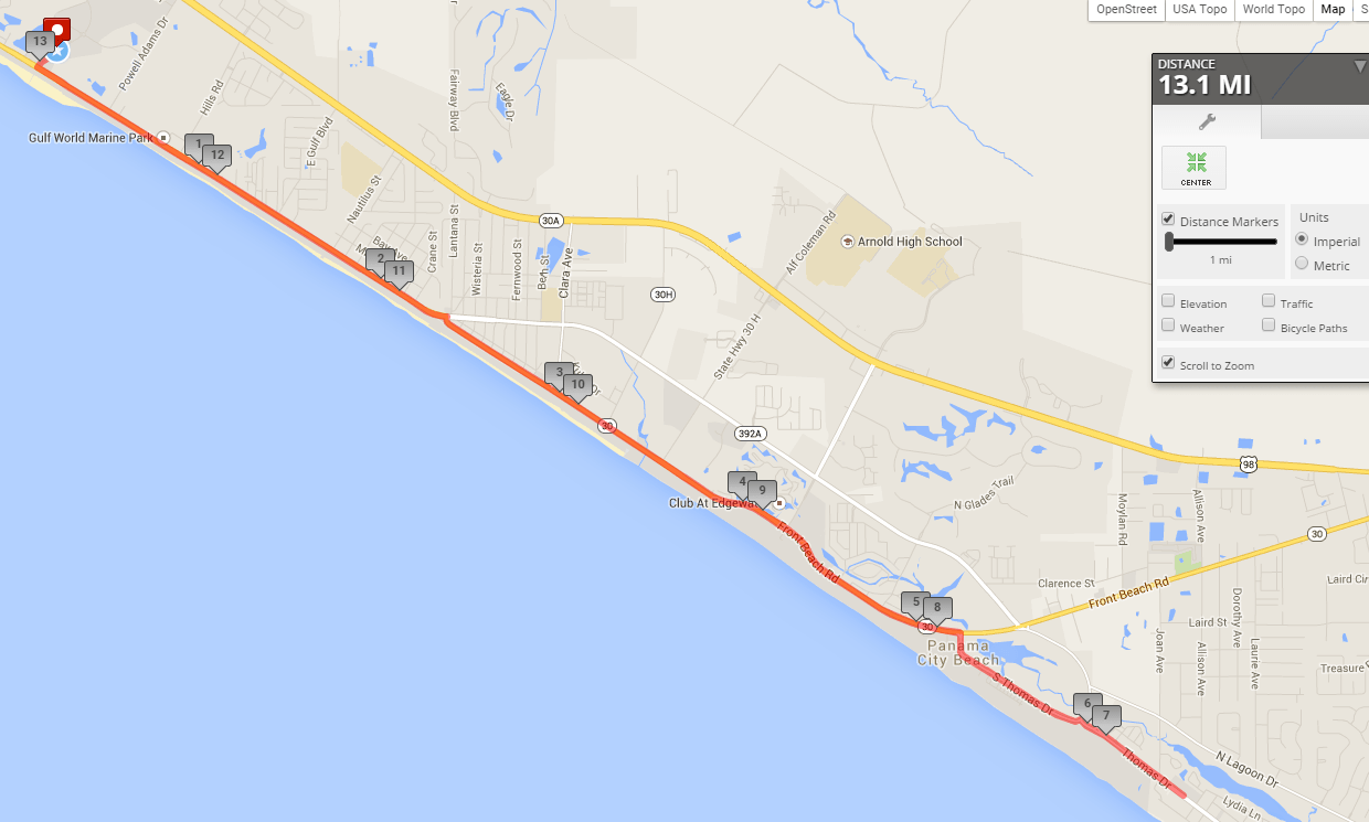 panama-city-beach-half-marathon-route