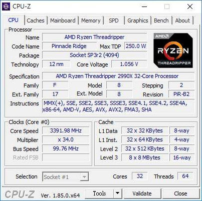 Threadripper 2990X CPU-Z