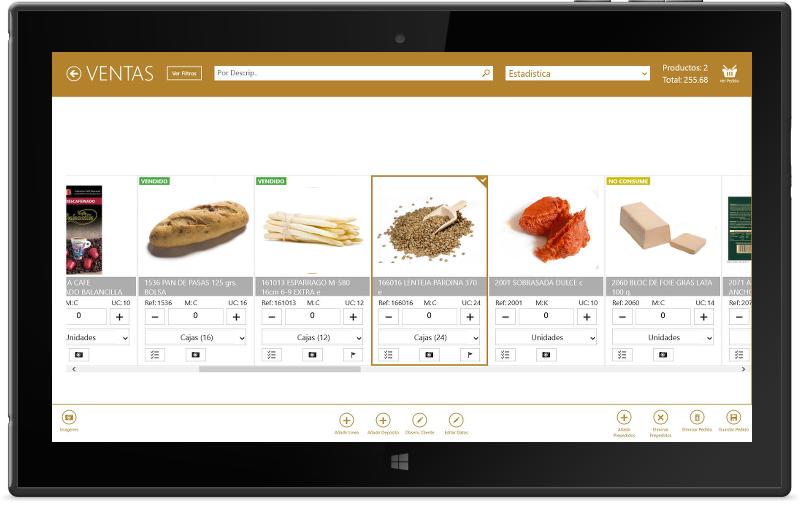 Programa Software Erp distribución alimentación opción preventa - PCCOM Informática
