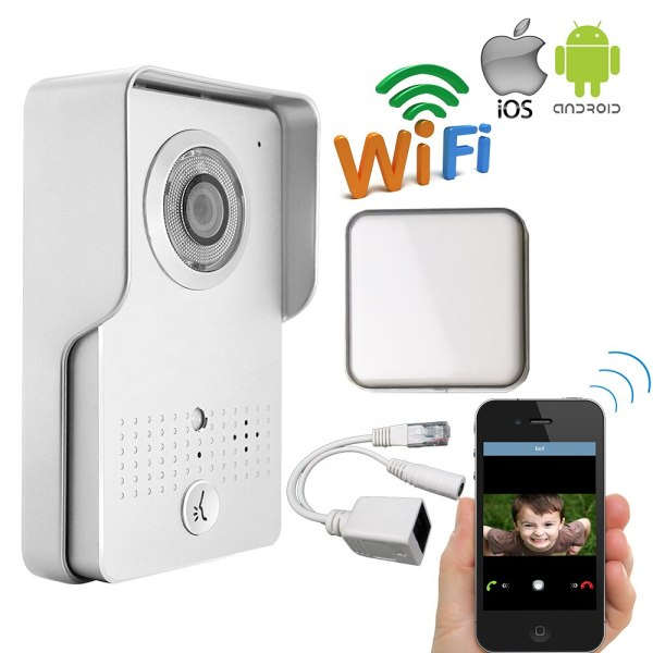 Free Shipping Metal Wireless Wifi IP Doorbell Camera Phone Remote View Unlock Video Door Phone Intercom