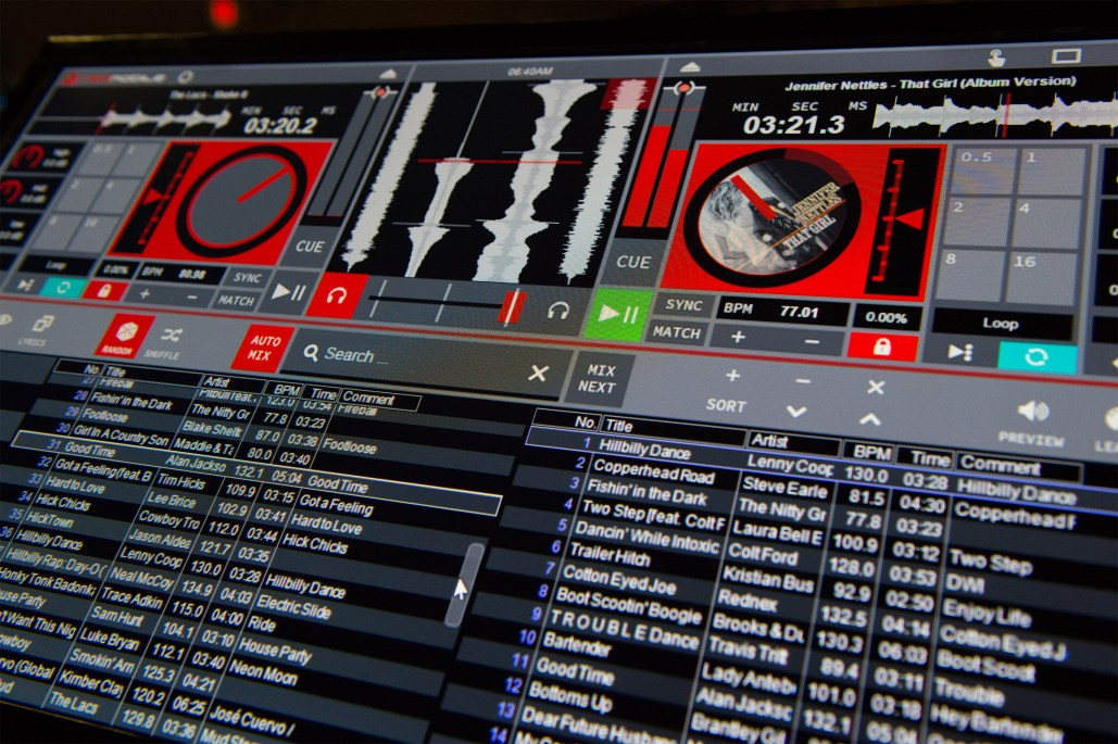 RED Mobile 3.5 DJ software Background